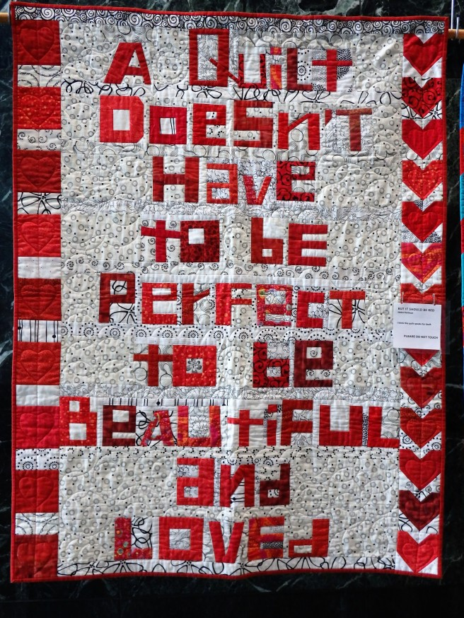 A Quilt Doesn't Have To Be Perfect